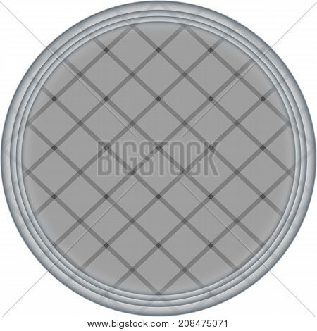 banner grey circle. poster round gray squares chess. abstract white background pattern. monochrome grunge texture. halftone effect. vector illustration