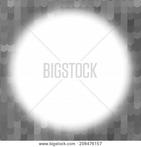 white circle abstract. grey tile background pattern. monochrome halftone effect. grunge texture. vector illustration