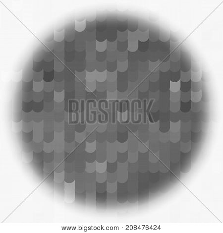 abstract grey circle ovals. banner tiles gray. poster scales grey. white background pattern. monochrome grunge texture. halftone effect. vector illustration