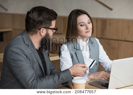 Business Partners Having Conversation