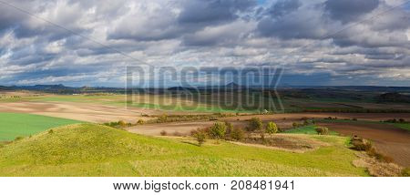Autumn scenery in Central Bohemian Highlands Czech Republic - Panorama image