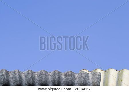 Tin Roof Against Blue Sky