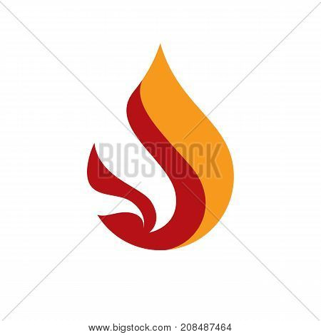 The power of burning fire nature element vector illustration for use in petrol and gas advertising.