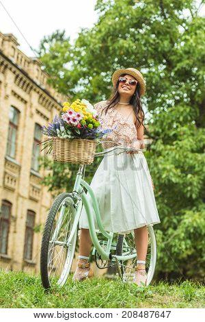 Beautiful Girl With Bicycle