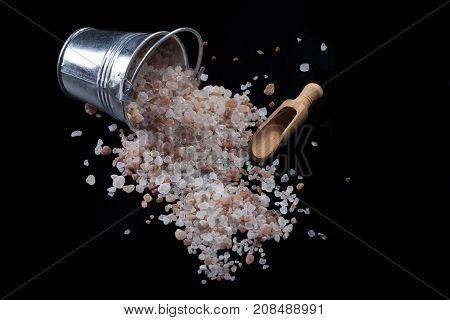 Bucket Salt And Spoon