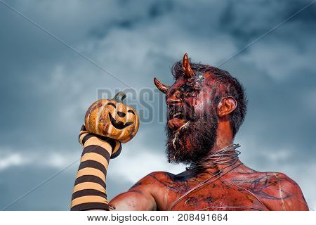 Halloween Dragon With Jack O Lantern
