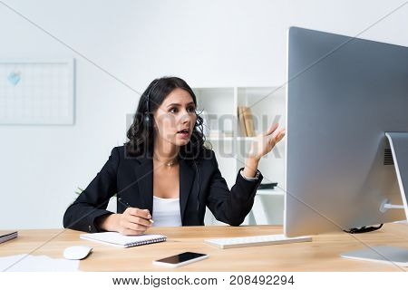 Female Call Center Worker