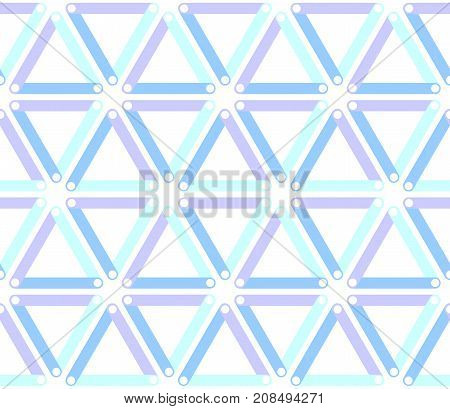 Seamless triangles diamonds and hexagons pattern. Geometric texture. Vector art.