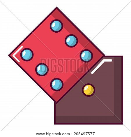 Dice icon. Cartoon illustration of dice vector icon for web