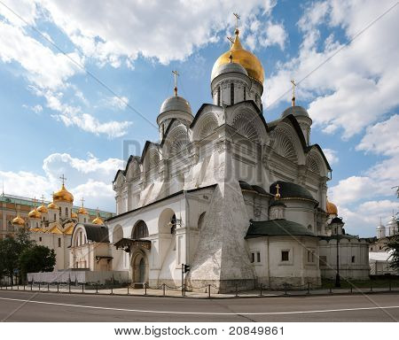 The Archangel's Cathedral Of The Moscow Kremlin.
