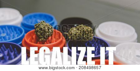 Weed Buds Close-up. Pot, Medical Weed,marijuana. Legalize Conсept