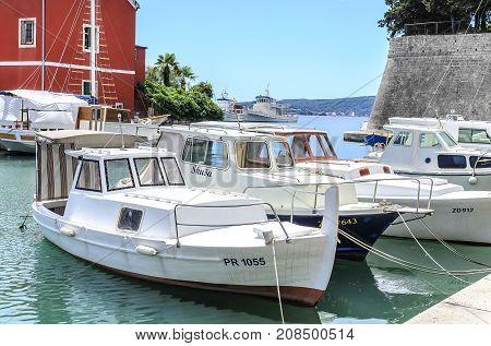 ZADAR, CROATIA - 15 JULY, 2017: Port of Fosa in the city of Zadar, Croatia