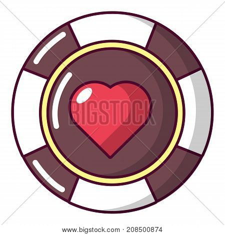 Casino chips icon. Cartoon illustration of casino chips vector icon for web