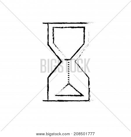 figure hourglass object design to know the time vector illustration