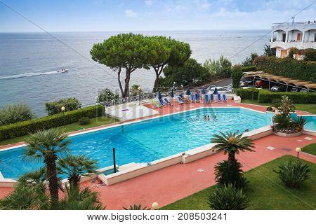 Swimming Pool. Ischia Island, Italy