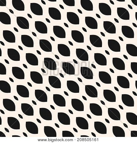 Vector seamless pattern, diagonal mesh texture. Monochrome illustration of smooth lattice, tissue, weave. Simple geometric abstract repeat background. Design for prints, decor, textile, furniture, web. Mesh pattern. Lattice pattern. Diagonal pattern