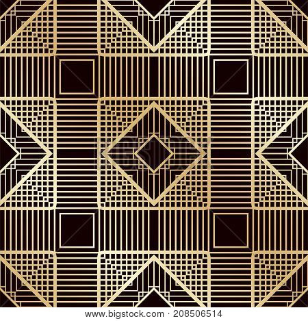 Art Deco Vintage Seamless Pattern. Template For Design. Vector Illustration Eps10