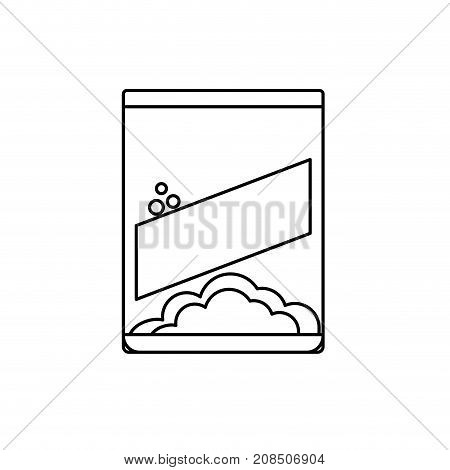 line box detergent to clean clothes and housework vector illustration