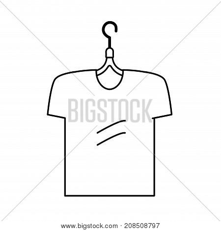 line man t-shirt casual design style vector illustration