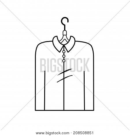 line man shirt casual design style vector illustration