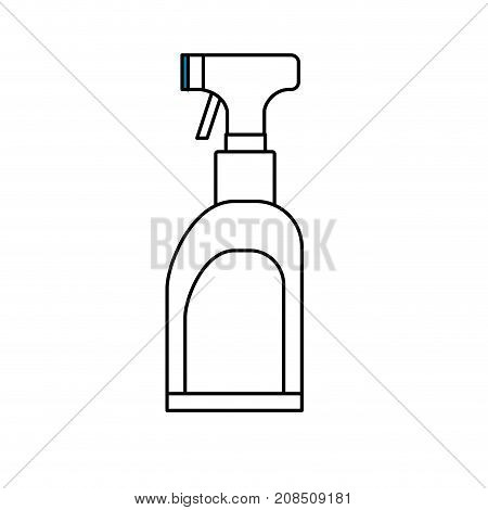 line spray soap to clean clothes vector illustration