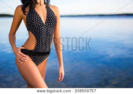 Summer Concept - Slim Woman In Bikini Posing On The Beach