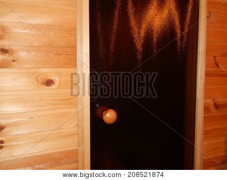 Bath sauna is steamied in a wooden house