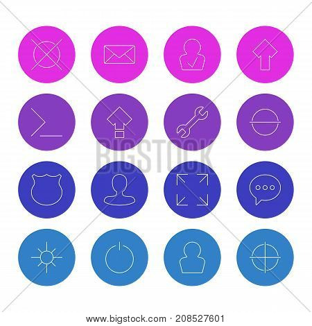 Editable Pack Of Cancel, Positive, Envelope And Other Elements.  Vector Illustration Of 16 Interface Icons.