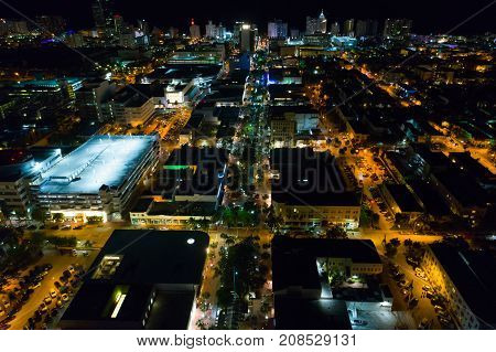 Miami Beach Lincoln Road Aerial Image