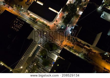 Aerial Lincoln Road Miami Beach