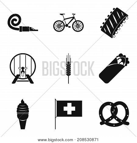 Foam party icons set. Simple set of 9 foam party vector icons for web isolated on white background