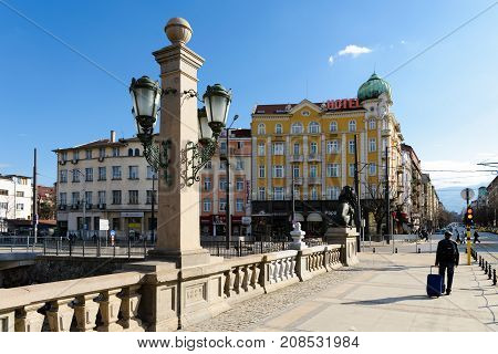 SOFIA, BULGARIA - March 3, 2017 : Lavov Most or Lions Bridge - popular tourist destination in Sofia