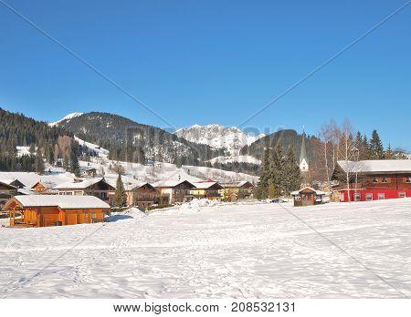Village of Sankt Martin am Tennengebirge in Salzburger Land,Austria
