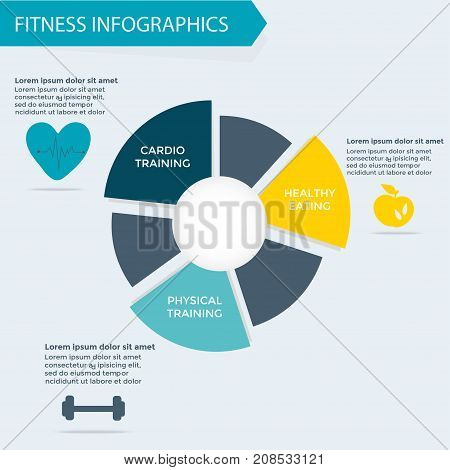 Fitness And Wellness Infographics Template