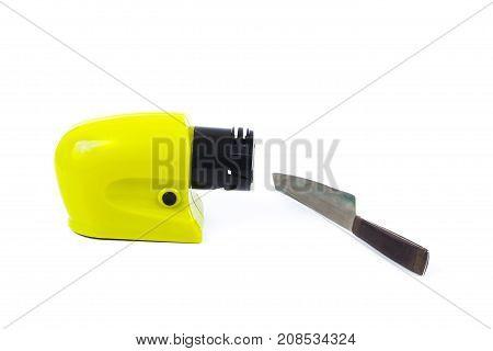 Sharpener Knife Machine On White