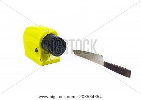 sharpener knife machine tool on white background