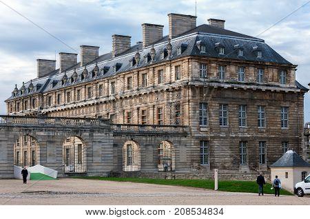 Paris France - October 7 2010 : Exterior of Vincennes castle Paris Ile-de-france France
