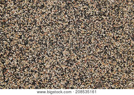 Small sand stone of sand wall texture or sand wall background. flor background texture. wash gravel wash stone