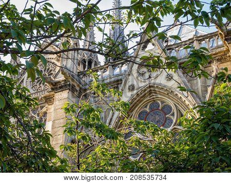 Notre-Dame Church on Ile de la Cite in Paris, France