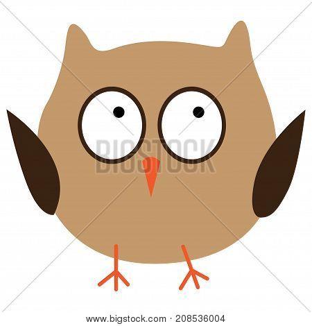 Crazy funny owl hand drawn. Vector illustration