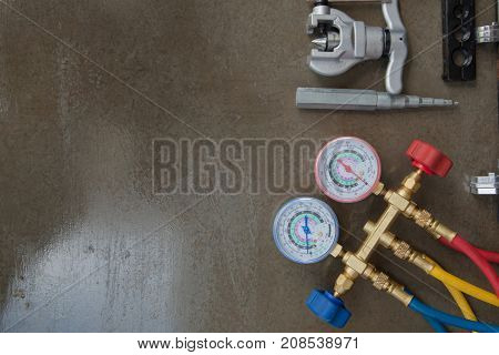 Manometers Measuring Equipment For Filling Air Conditioners,gauges.