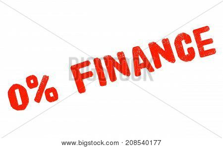 Zero percent finance sticker. Authentic design graphic stamp.