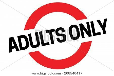 ADULT ONLY sticker. Authentic design graphic stamp.