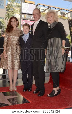 LOS ANGELES - OCT 6:  Debra Messing, family at the Debra Messing Star Ceremony at the Hollywood Walk of Fame on October 6, 2017 in Los Angeles, CA