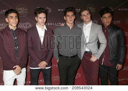 LOS ANGELES - OCT 4:  Drew Ramos, Michael Conor, Chance Perez, Brady Tutton, Sergio Calderon, In Real Life at the People's Ones To Watch Party at the NeueHouse on October 4, 2017 in Los Angeles, CA
