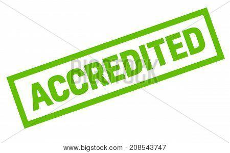 Accredited sticker. Authentic design graphic stamp. Original series