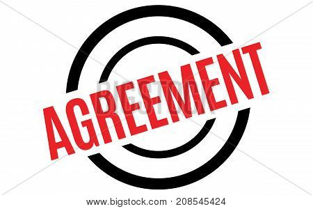 AGREEMENT sticker. Authentic design graphic stamp. Original series