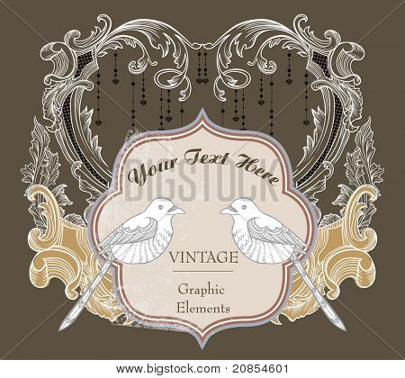vintage cover design- best card for wedding- classic style