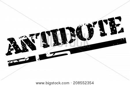 ANTIDOTE sticker. Authentic design graphic stamp. Original series