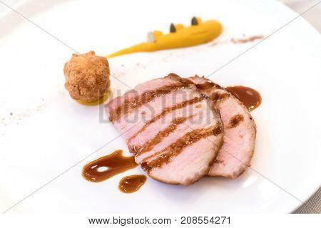 Iberico Pork Chop with choux